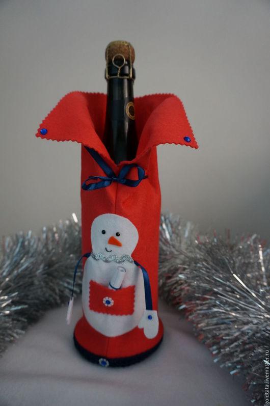 Подарочная упаковка ручной работы. Ярмарка Мастеров - ручная работа. Купить Новогодняя упаковка для бутылки или под конфеты. Handmade.