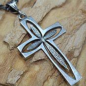 handmade. Livemaster - original item Men`s cross made of 925 sterling silver HH0069. Handmade.