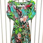 Материалы для творчества handmade. Livemaster - original item Colorful 100% silk crepe de Chine, Jungle. Handmade.