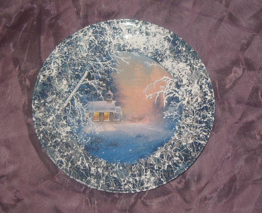 Новогодние тарелки фото