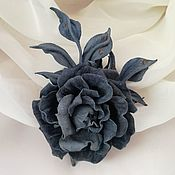 Украшения handmade. Livemaster - original item Leather flowers. Rose suede