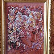 Картины ручной работы. Ярмарка Мастеров - ручная работа Картина. Цветочный сон.. Handmade.