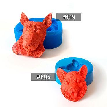 Материалы для творчества ручной работы. Ярмарка Мастеров - ручная работа #606, 619 - Молды с собаками. Handmade.