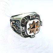 Украшения handmade. Livemaster - original item Ring-signet: The ring rose of the winds. Handmade.
