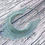 Украшения handmade. Livemaster - original item Kerchief-necklace made of blue beads. Handmade.