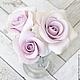 Заколки ручной работы. Набор шпилек с розами - Сиреневые (4 шт). Tanya Flower. Ярмарка Мастеров. Украшения с цветами