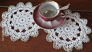 """Текстиль, ковры ручной работы. Ярмарка Мастеров - ручная работа. Купить Салфетка """"К чаю"""". Handmade. Салфетка, подарок"""