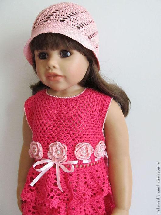 Одежда для девочек, ручной работы. Ярмарка Мастеров - ручная работа. Купить комплект Розовые мечты. Handmade. Фуксия, детское платье