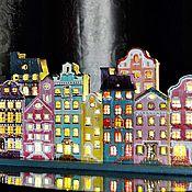 """Для дома и интерьера ручной работы. Ярмарка Мастеров - ручная работа Ночник в детскую """"Амстердам"""", Led-светильник, подарок ребенку. Handmade."""