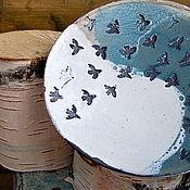 Посуда ручной работы. Ярмарка Мастеров - ручная работа Тарелка Стайка. Handmade.