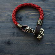 Украшения handmade. Livemaster - original item Bracelet with Thor`s Hammer. Handmade.