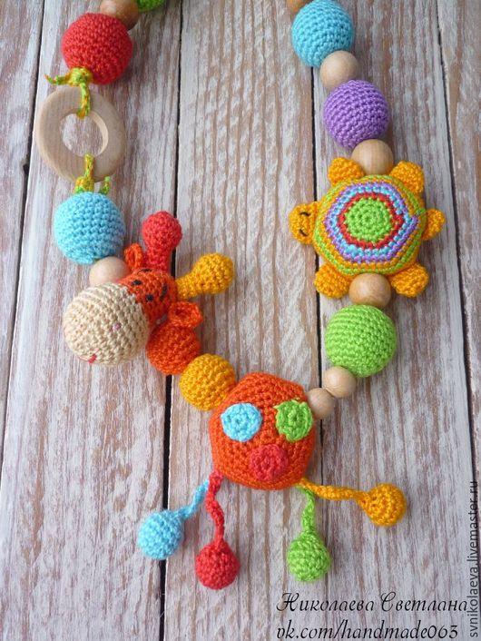 """Слингобусы ручной работы. Ярмарка Мастеров - ручная работа. Купить Слингобусы """"Жирафик и черепашка"""". Handmade. Разноцветный, игрушка ручной работы"""