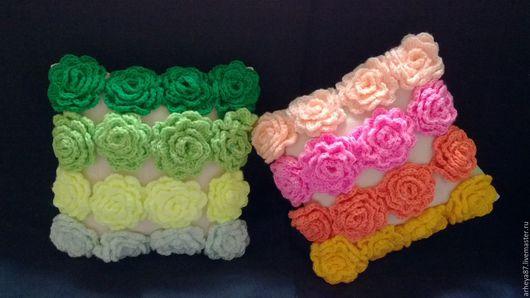 Текстиль, ковры ручной работы. Ярмарка Мастеров - ручная работа. Купить Подушки льняные с цветами.. Handmade. Комбинированный, лен, подарок