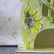 """Для дома и интерьера ручной работы. Ярмарка Мастеров - ручная работа Чайный домик """"Дитя солнца"""" декупаж для кухни. Handmade."""