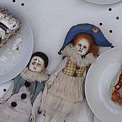 Куклы и игрушки handmade. Livemaster - original item Pierrot and pierrette. Handmade.