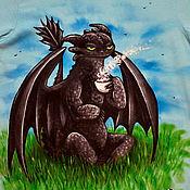 """Одежда ручной работы. Ярмарка Мастеров - ручная работа Футболка """"Не буди во мне дракона!"""". Handmade."""