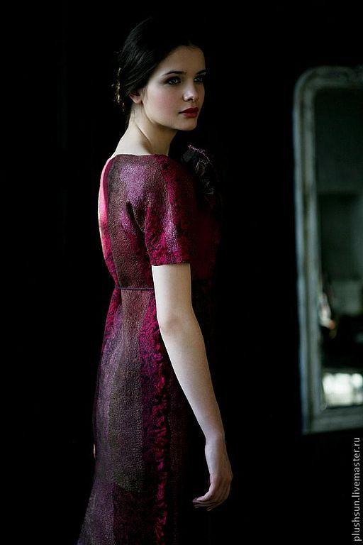 Валяное платье «Cherry wine», Платья, Краснодар,  Фото №1