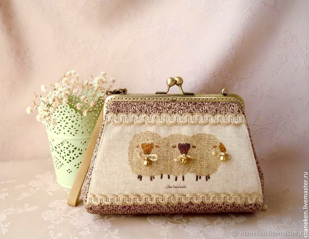 Wallet-cosmetic bag with clasp Sheep, Beauticians, Krasnodar,  Фото №1