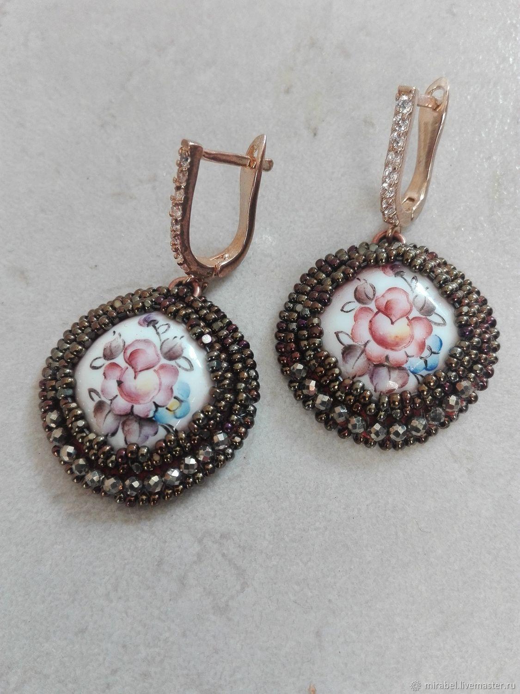 Earrings with enamel beading, Earrings, Moscow,  Фото №1