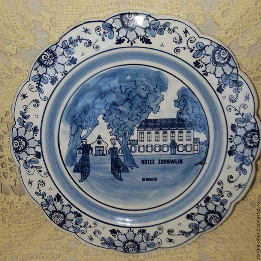 Винтажная посуда. Ярмарка Мастеров - ручная работа. Купить Тарелка Дельфт.. Handmade. Тёмно-синий, предметы интерьера
