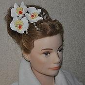 Свадебный салон ручной работы. Ярмарка Мастеров - ручная работа Орхидеи из глины 2. Handmade.