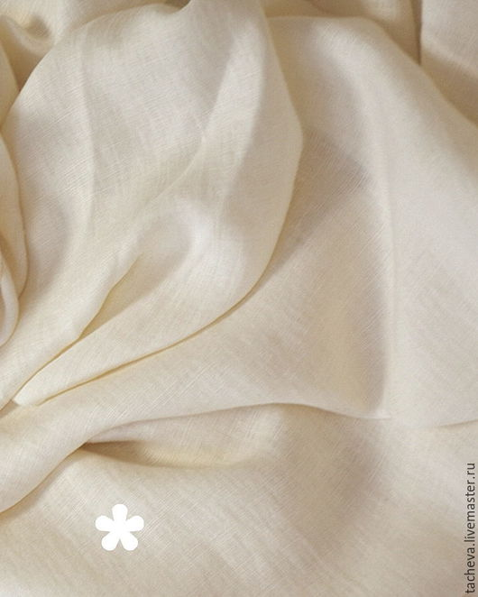 Шитье ручной работы. Ярмарка Мастеров - ручная работа. Купить Ткань льняная  блузочная- крем-брюле. Handmade. Бежевый
