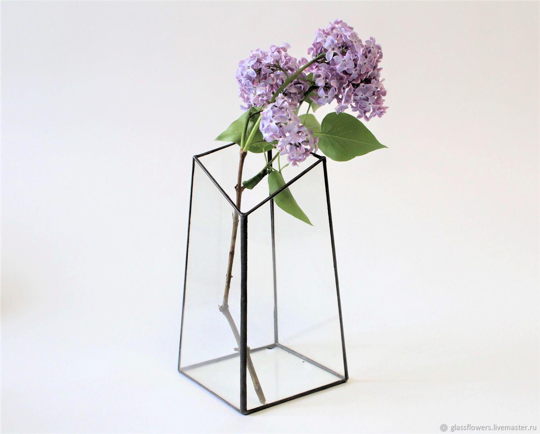 Ваза для растений и цветов. Геометрическая ваза. Подсвечник. Лофт, Вазы, Санкт-Петербург,  Фото №1