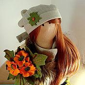 Куклы и игрушки ручной работы. Ярмарка Мастеров - ручная работа Текстильная кукла  Девочка Осень.. Handmade.