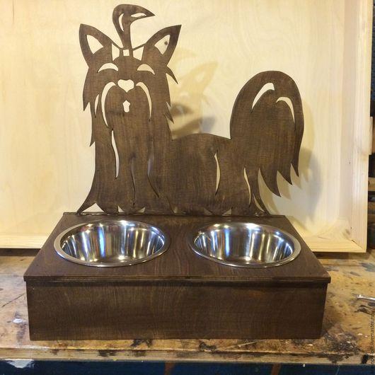 Аксессуары для собак, ручной работы. Ярмарка Мастеров - ручная работа. Купить Кормушка для собак ( кошек). Handmade. Комбинированный, сосна