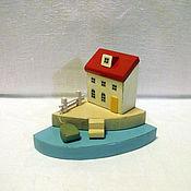 Сувениры и подарки ручной работы. Ярмарка Мастеров - ручная работа Миниатюра, домики, домик у моря, декор. Handmade.