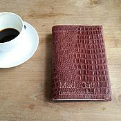 Канцелярские товары handmade. Livemaster - original item Cover Notepad made of genuine leather. Handmade.
