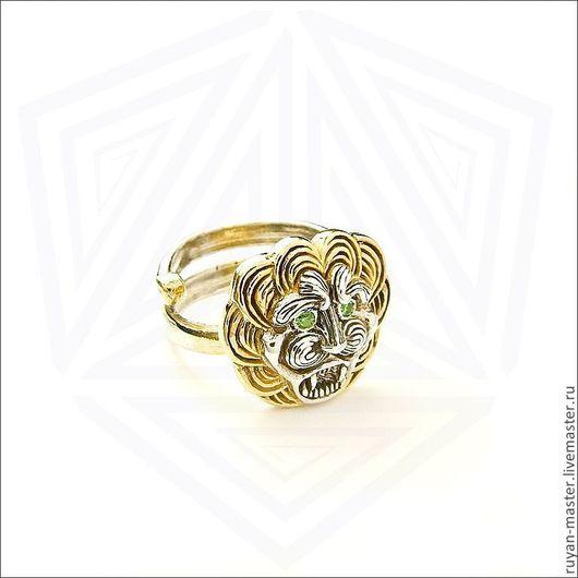 Кольца ручной работы. Ярмарка Мастеров - ручная работа. Купить Кольцо Греческий лев. Handmade. Золотой, львы, позолоченное серебро