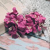 Цветы искусственные ручной работы. Ярмарка Мастеров - ручная работа Лилии малиновые 5 шт. Handmade.