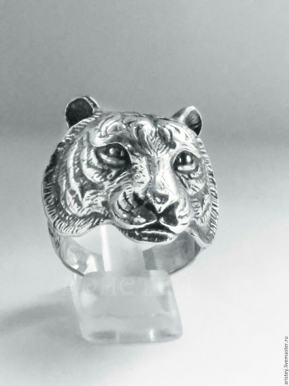 """Кольца ручной работы. Ярмарка Мастеров - ручная работа. Купить Перстень """"Тигр"""". Handmade. Тигр, дикая кошка"""