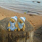 Куклы и игрушки ручной работы. Ярмарка Мастеров - ручная работа Соня и Костя миниатюрные медведи тедди. Handmade.
