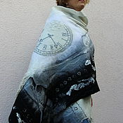 """Аксессуары ручной работы. Ярмарка Мастеров - ручная работа Палантин валяный """"Время не ждет"""". Handmade."""