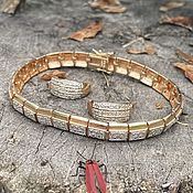 Винтаж handmade. Livemaster - original item Stories of the Fountain House. bracelet, earrings. Silver.. Handmade.