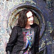 Одежда handmade. Livemaster - original item Jacket with Astrakhan fur, and patchwork elements. Handmade.