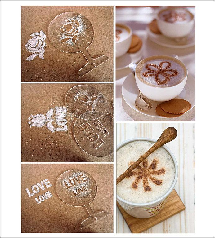 Как сделать кофе с трафаретом