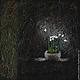Абстракция ручной работы. Звенит сверчок. Анастасия Таюрская Душевные картины. Интернет-магазин Ярмарка Мастеров. Тёмно-зелёной, черный