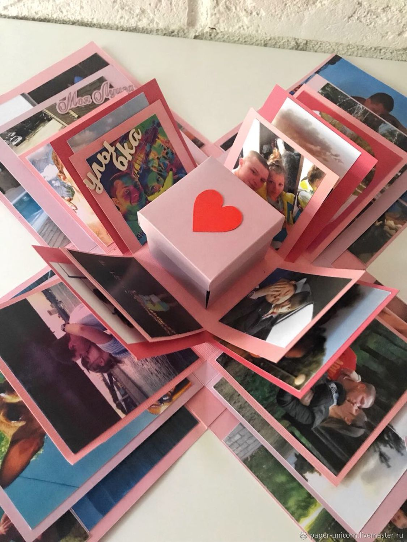 Коробочка с фотографиями на своими руками