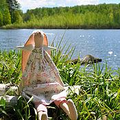 Куклы и игрушки ручной работы. Ярмарка Мастеров - ручная работа Зайка-ангел. Handmade.