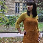 Одежда handmade. Livemaster - original item Knit dress from Italian tweed