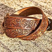 Аксессуары handmade. Livemaster - original item Leather belt brown