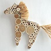 """Куклы и игрушки ручной работы. Ярмарка Мастеров - ручная работа Елочная/интерьераная игрушка """"Белая лошадь"""". Handmade."""