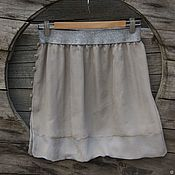 Одежда handmade. Livemaster - original item Silk skirt at the silver elastic. Bilateral. roses. Silk. Handmade.