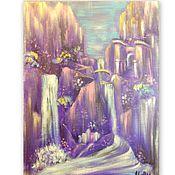 Картины и панно handmade. Livemaster - original item Painting of the mountain