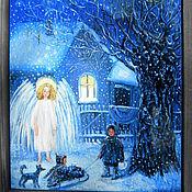 """Картины и панно ручной работы. Ярмарка Мастеров - ручная работа """"Святочный вечер"""". Handmade."""