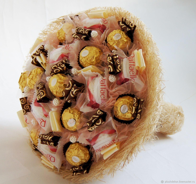 Купить недорого букет из конфет, магазин