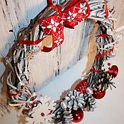 Для дома и интерьера ручной работы. Ярмарка Мастеров - ручная работа Новогодний яркий венок. Handmade.
